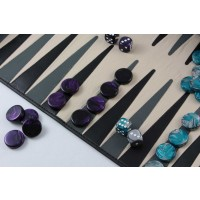 'to go' Backgammon schwarz/grau