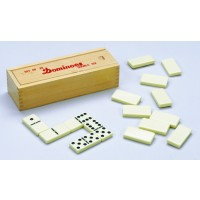 6er Domino in Holzbox