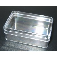 Kunststoffbox transparent hoch, leer