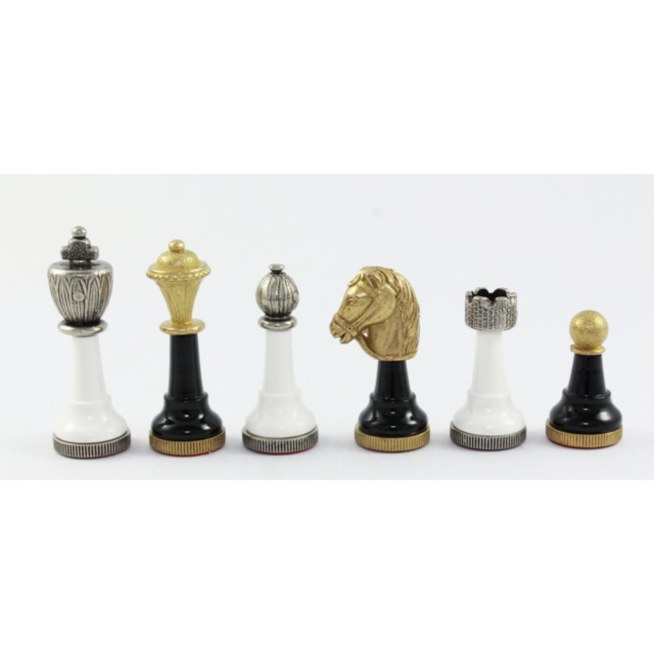 schachfiguren schachfiguren metall holz kombination zink druckgu k nigsh he 75 mm. Black Bedroom Furniture Sets. Home Design Ideas
