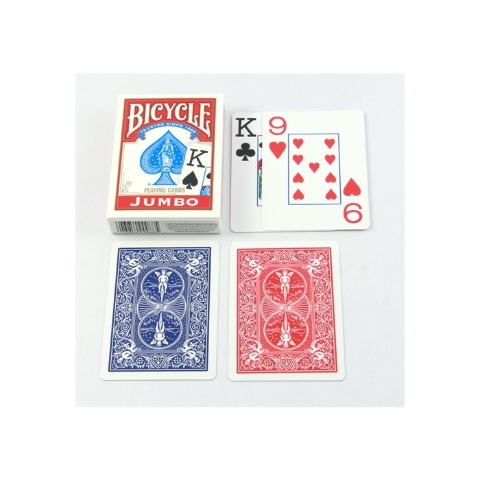 Poker Spielkarten Bicycle Papier Jumbo Index