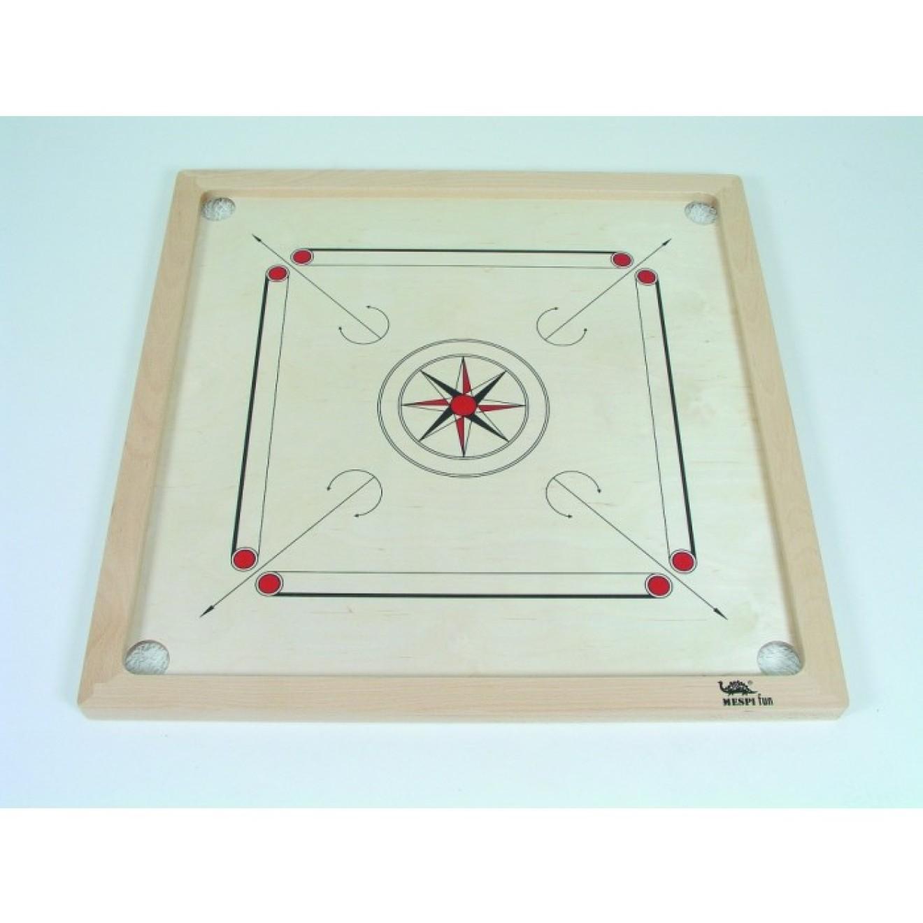 Spielfläche Birke Carrom Standard Buche schwarz-rot