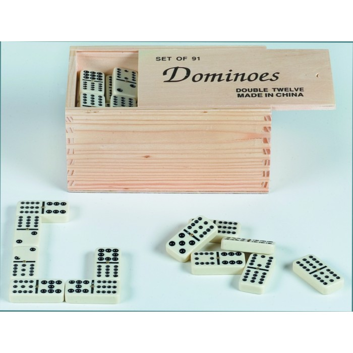 9er Domino in Holzbox