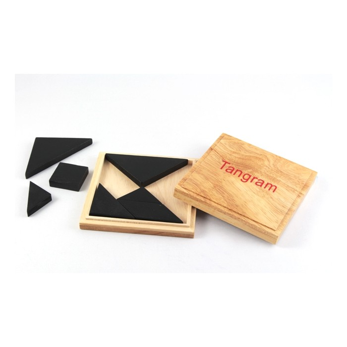 Tangram in Holzbox