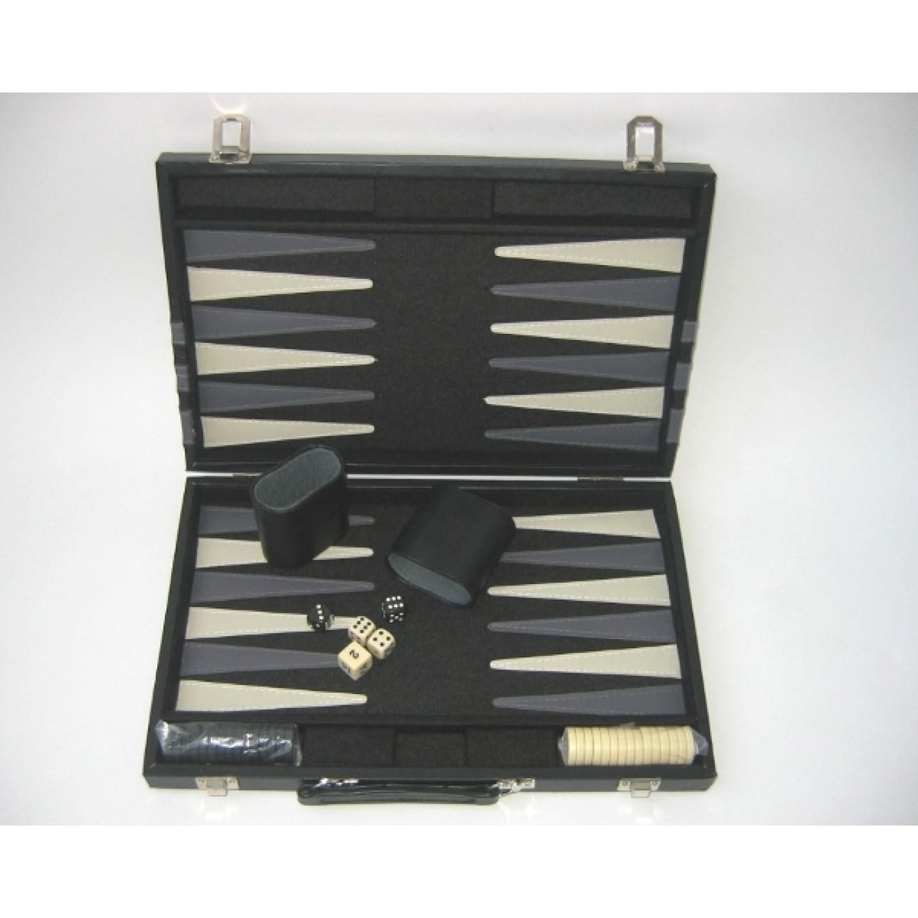Backgammon Koffer Black Basic 36 X 24 Cm Ausführung Ii Wahl